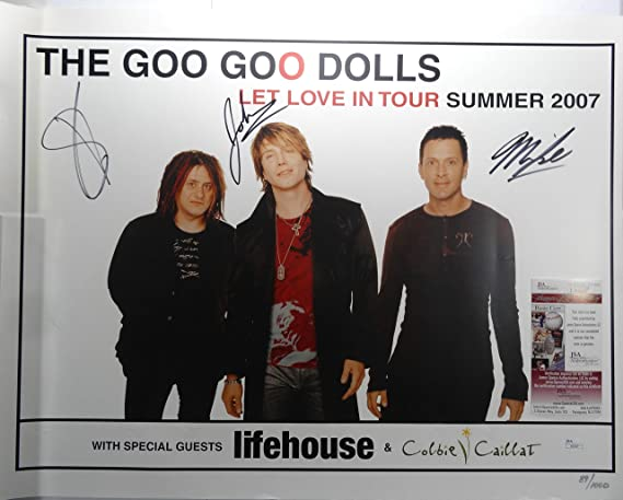 Signed The Goo Goo Dolls Autographed Tour Book Poster All 3