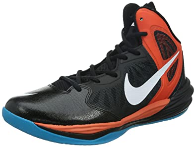 the latest 07d47 fc509 Nike Mens Prime Hype Df Black/White/Tm Orange/Anthracite Basketball Shoe 10