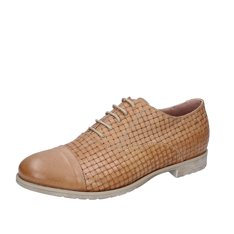 Mally Zapatos de Cordones de Piel Para Mujer 40 EU|Marrón