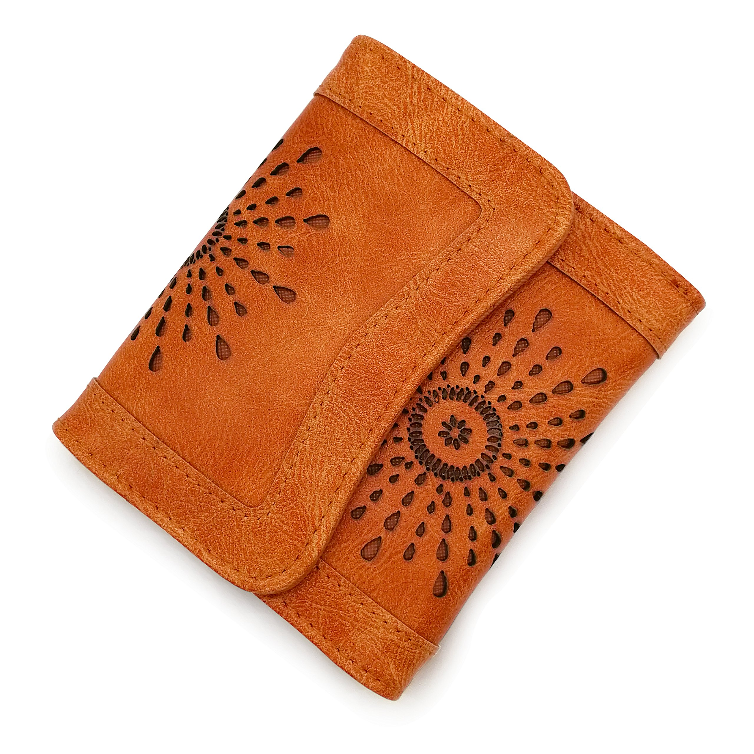 Women Wallet Female Purse Leather Card Holder Wallet Hollow Out Short Purses