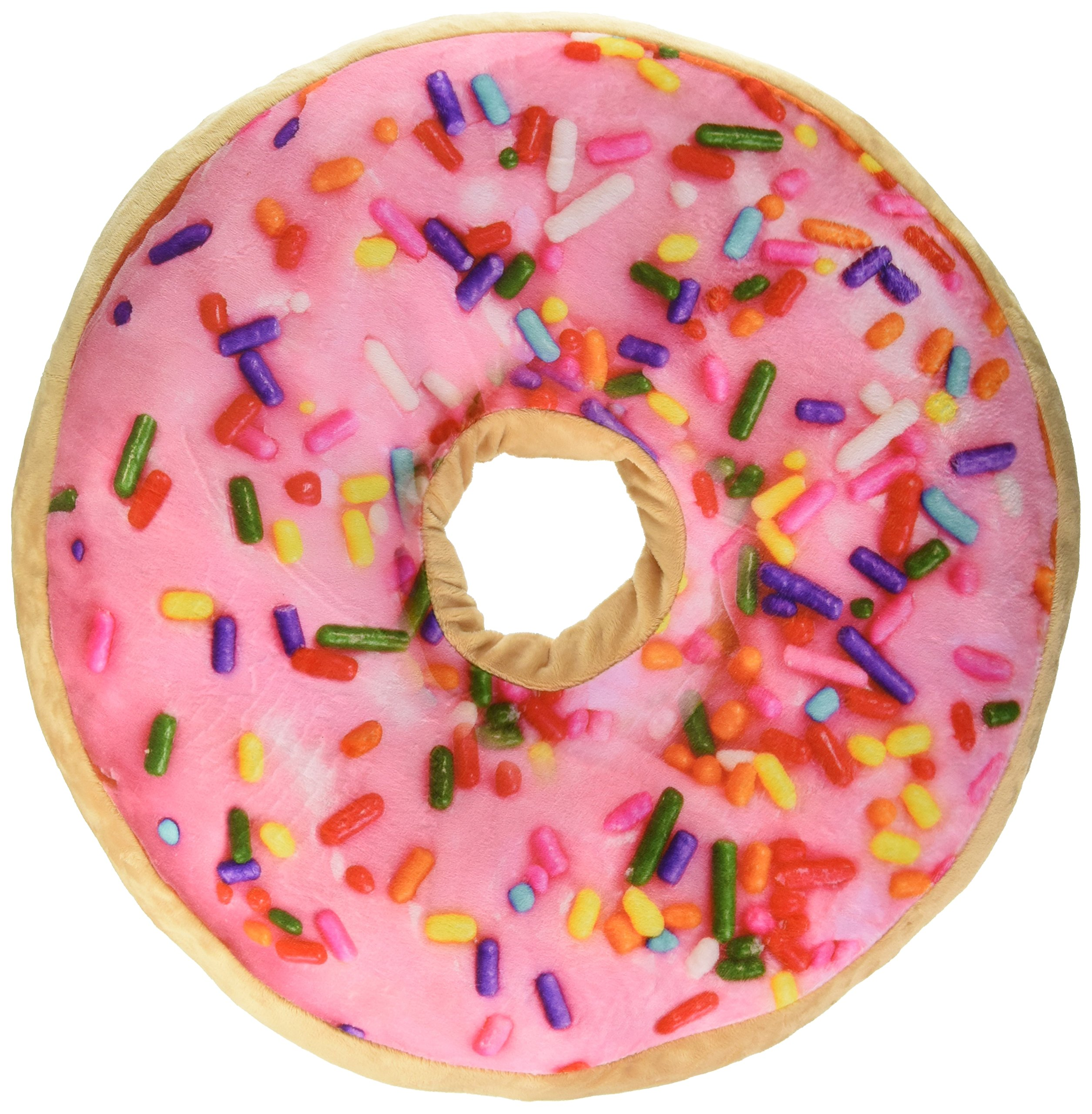 Sprinkle Donut Pillow with Pink Frosting and Strawberry Scent by Top Trenz by Top Trenz, INC