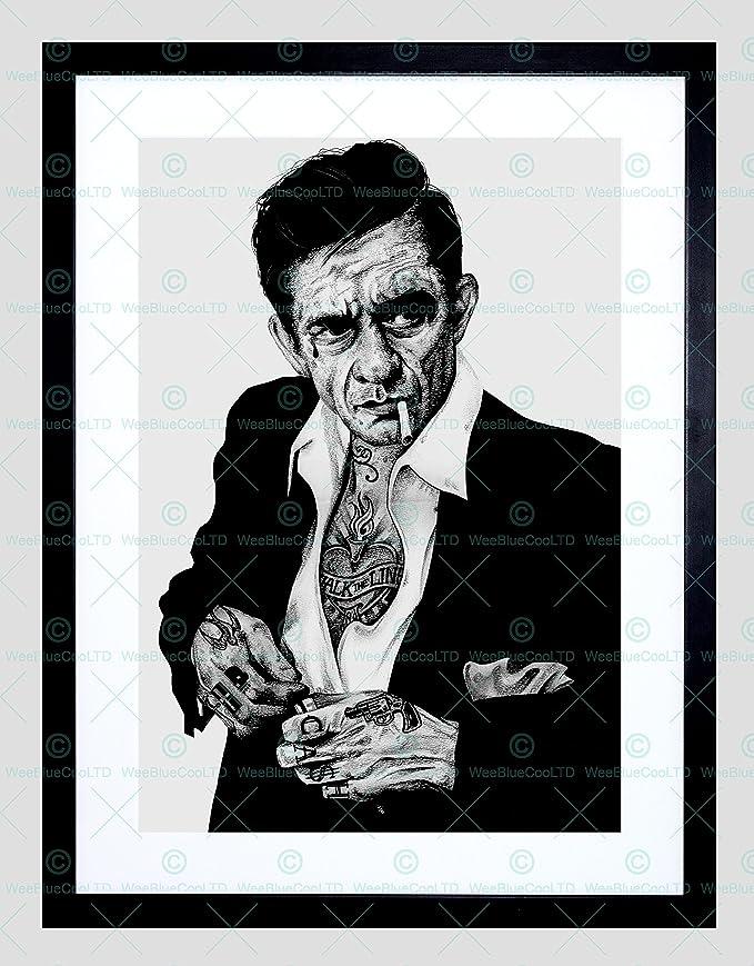 Wayne Maguire Tattooed Anchorman Ferrell Inked Ikon 12X16 Inch Framed Art Print