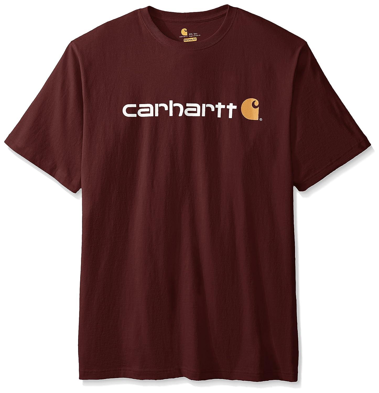 カーハート 大きいサイズのメンズTシャツ シグネチャーロゴ 半袖 中厚ジャージ K195 B001RKYQL6 XL|Port (Closeout) Port (Closeout) XL