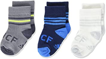 Adidas Real Kids Socks - Calcetines Unisex, Color Blanco/Gris/Negro, Talla