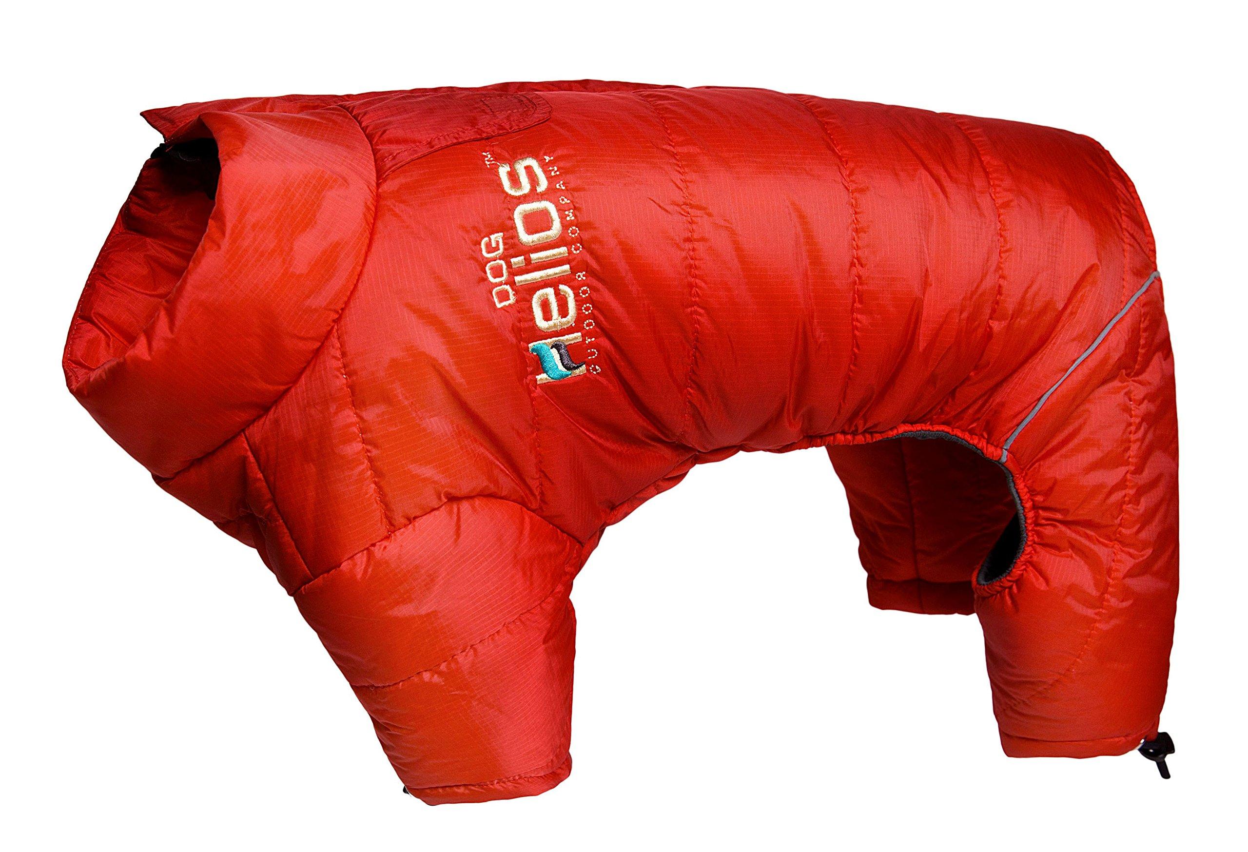 DogHelios Thunder-crackle Full-Body Waded-Plush Adjustable and 3M Reflective Dog Jacket, X-Large, Grenadine Red