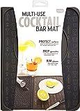 Talisman Designs Original Multi-Use Countertop Cocktail Bar Mat, 9 by 12, Black