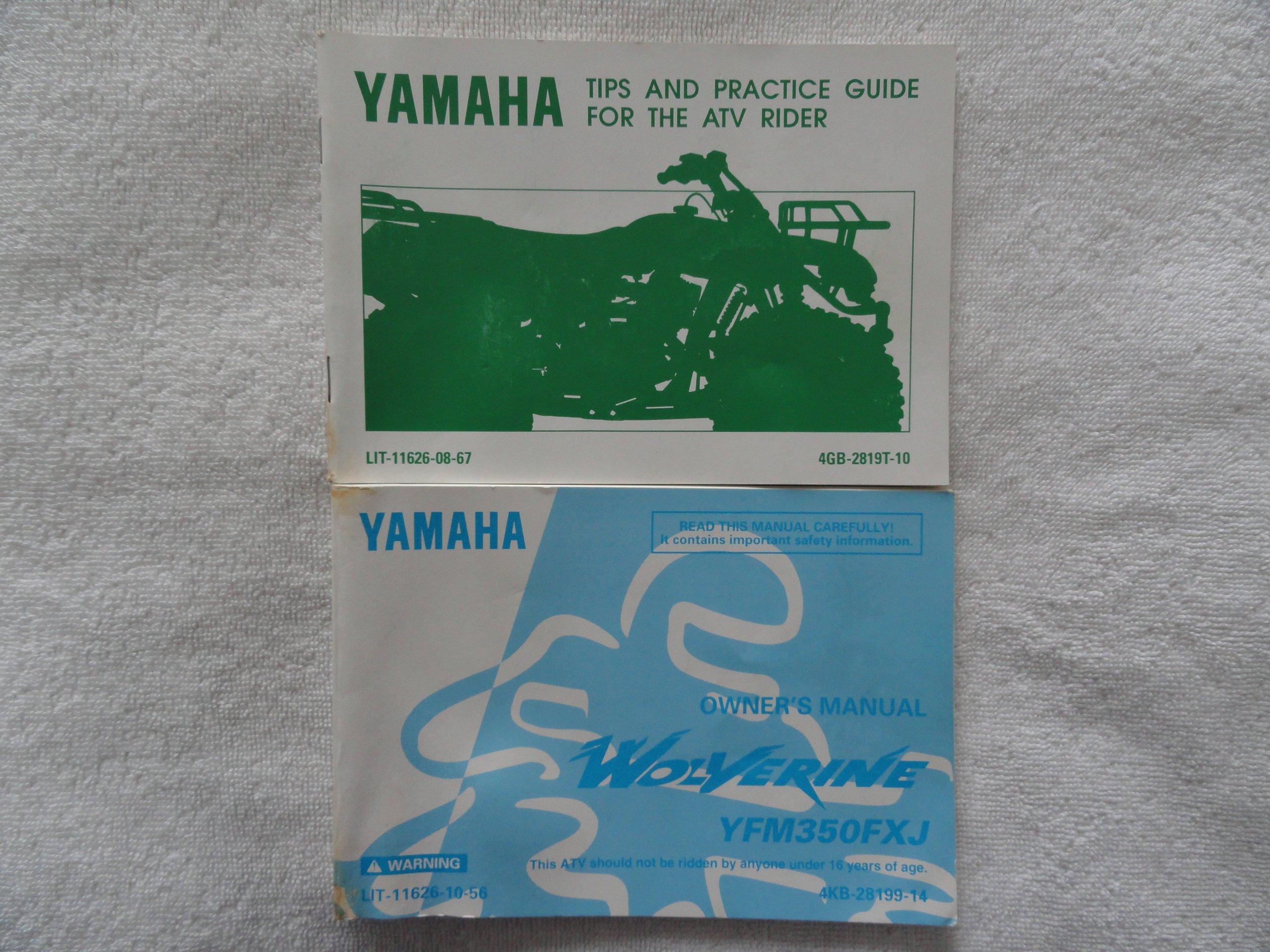 1997 Yamaha Wolverine YFM350FXJ Owners Manual YFM 350 FXJ: Yamaha:  Amazon.com: Books