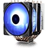 DEEPCOOL Neptwin RGB CPU Cooler 6 Heatpipes Twin-Tower Heatsinks Dual 120mm PWM RGB Fans Motherboard Control and Wired…