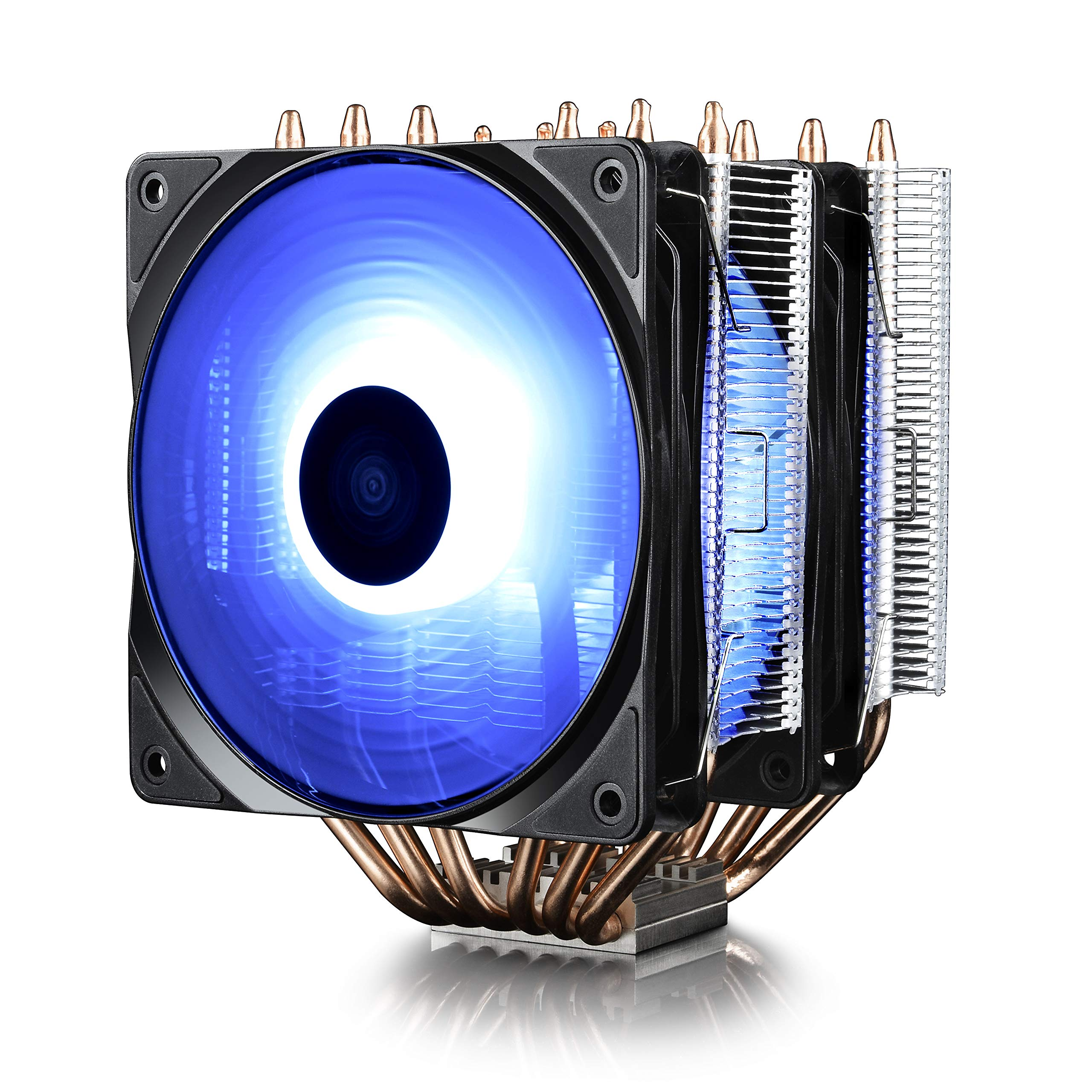 DEEPCOOL Neptwin RGB CPU Cooler 6 Heatpipes Twin-Tower Heatsinks Dual 120mm PWM RGB Fans Motherboard Control and Wired Controller Supported