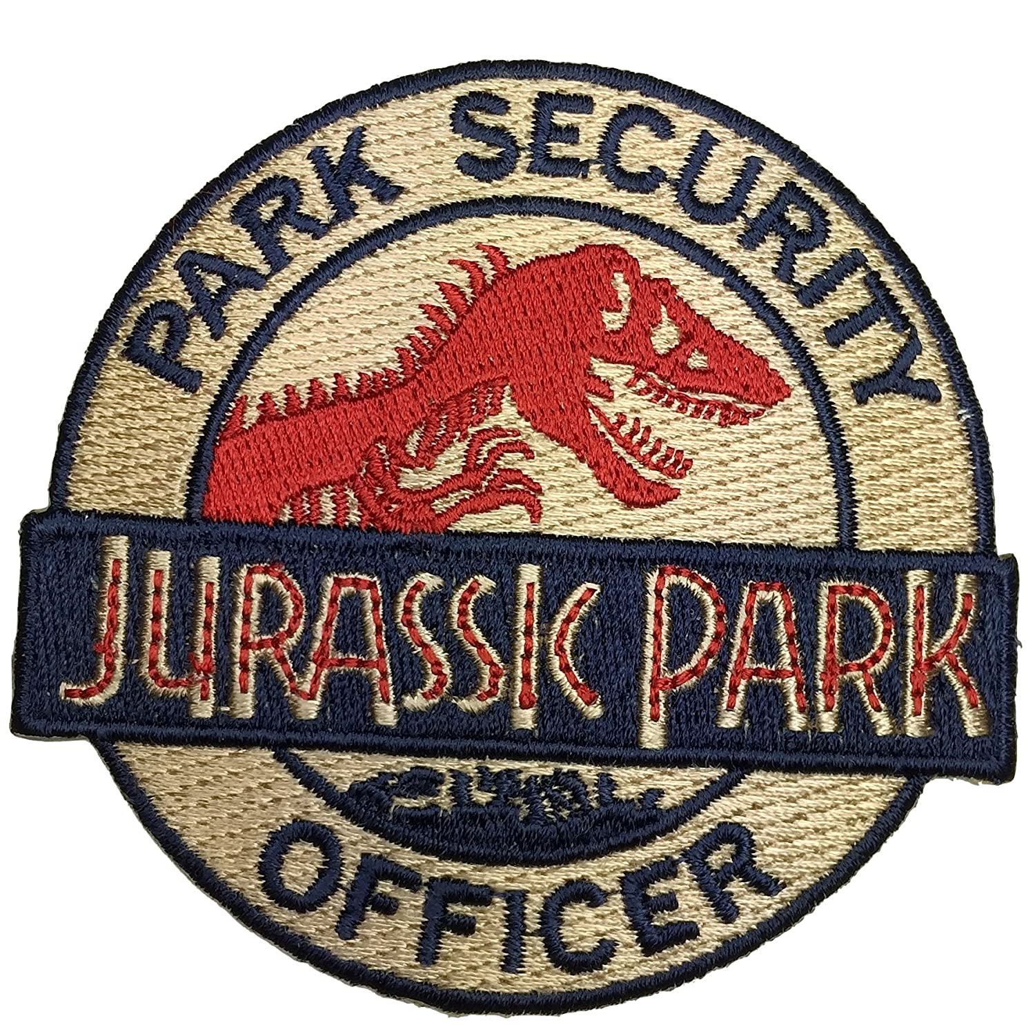 c801891a596 Amazon.com  Patch Squad Men s Jurassic Park Asset Containment Unite Shield  Patch (Gold Iron Sew On)  Clothing