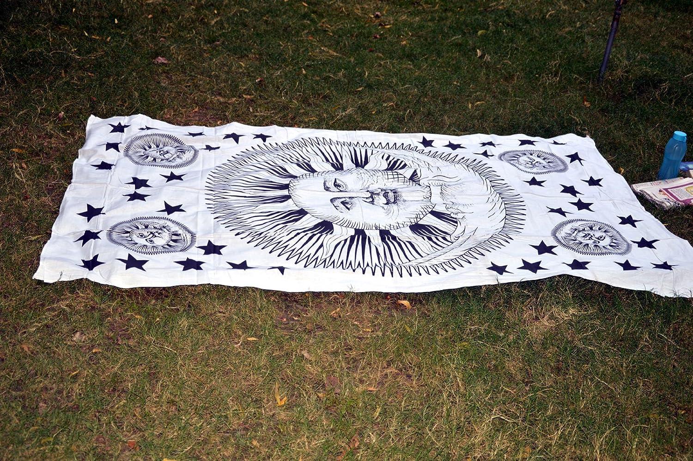 Sábana de algodón indio para yoga o yoga, manta de playa ...