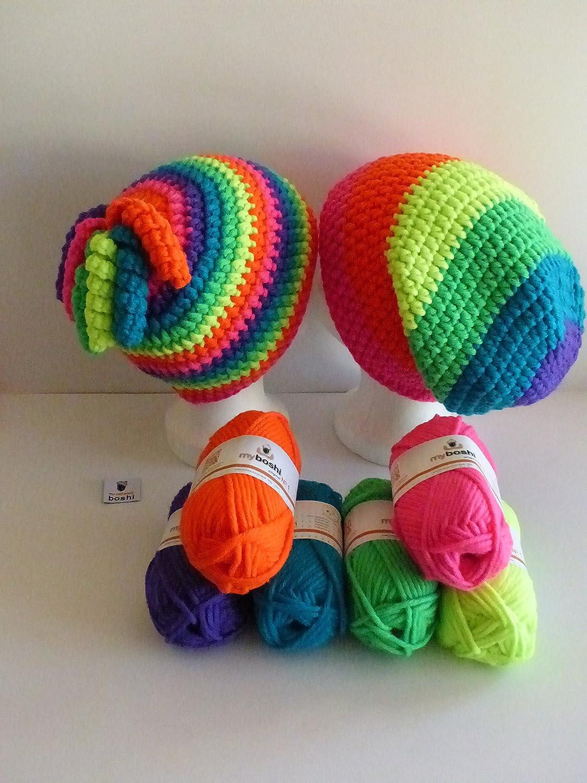 My Boshi Häkelset Mütze Neon Rainbow Wie Abgebildet M 300g Myboshi
