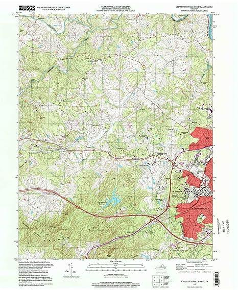 Amazon com : YellowMaps Charlottesville West VA topo map, 1