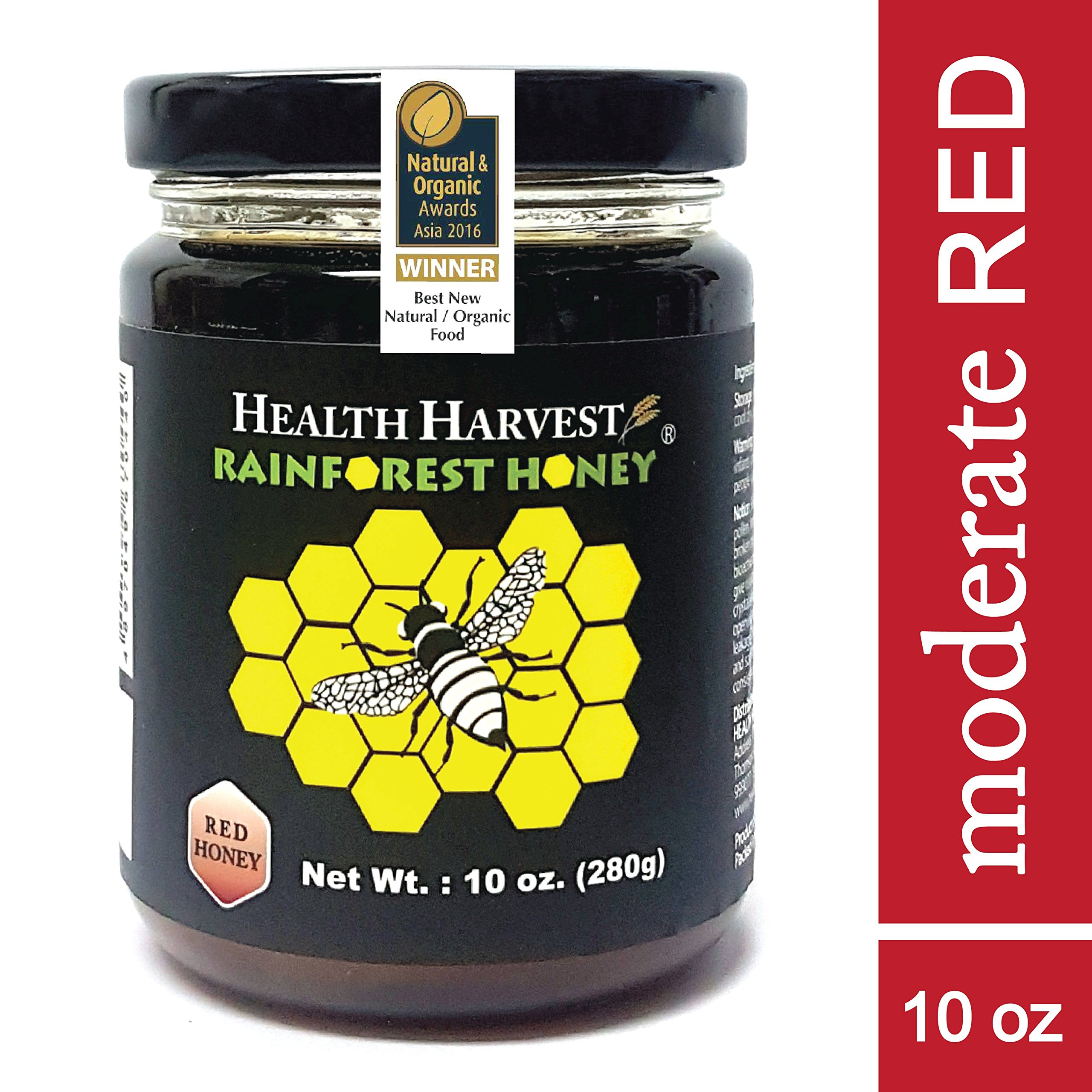 Tualang Red Honey 10 oz   Moderate Choice for Adult & Teenage Health Maintenance   Year-round Wild Harvested from Sumatra Tropical Rainforest   Raw, Unpasteurized, Unfiltered   Award-Winning