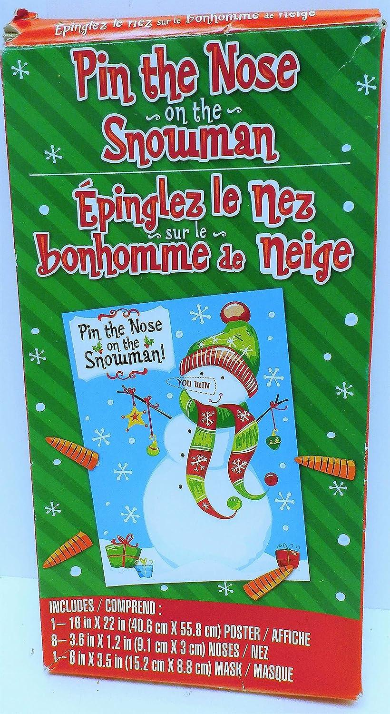 2019超人気 クリスマスゲーム/ビンゴ Tail/ Cookie一致/ Ring Pin Toss on/ Pin the Tail on the Snowman B00OYPWPNW, トママエチョウ:2e8dce2c --- realcalcados.com.br