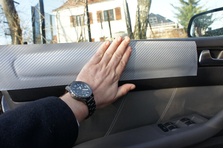f/ür den Innenraum Ihres Fahrzeuges SL SL ORIGINAL 3D CARBON ZIERLEISTEN SET 15 teiliges Folienset aus 3D Carbon Silber Folie