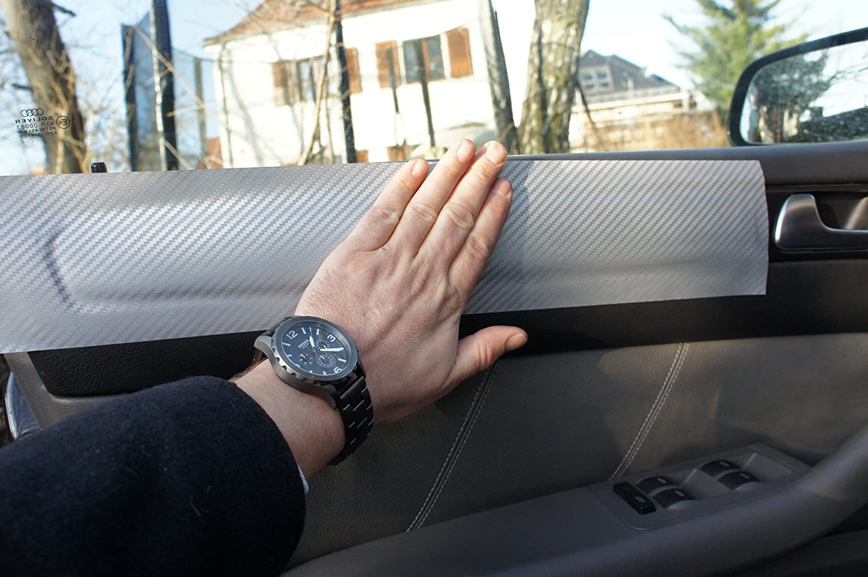 15 teiliges Folienset aus 3D Carbon Silber Folie f/ür den Innenraum Ihres Fahrzeug siehe unter Details ORIGINAL 3D CARBON ZIERLEISTEN SET