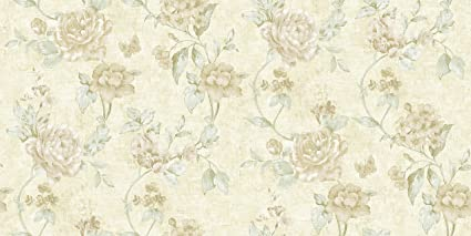 AimRoom Country Rustic Gold Cream Vintage Floral Wallpaper For Wall Art Decor