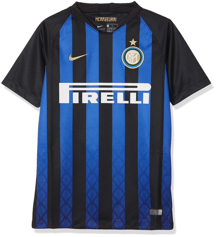 Nike 919244 - 011 - Camiseta de fútbol Infantil, Niño, Color Noir/Truly Gold, tamaño FR : XL (Taille Fabricant : XL): Amazon.es: Deportes y aire libre