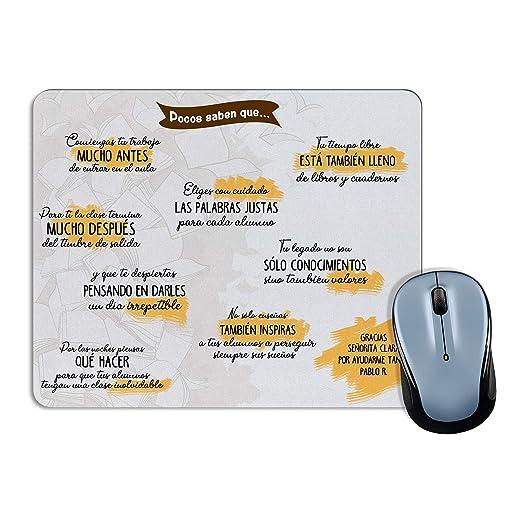 Lolapix Alfombrilla de ratón Profesor y Profesora Personalizada ...