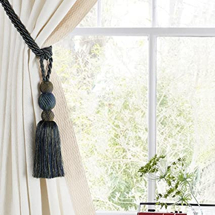 Deco Window Single Tieback Raag Triball-Peacock Mix