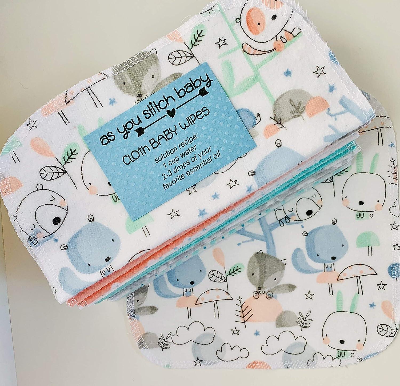 Baby Shower Gifts Ideas Eco Friendly Set of 3 Dozen Wipes Americana Reusable Cloth Napkin Cloth Baby Wipes Starter Kit Re Usable Cloth Wipes