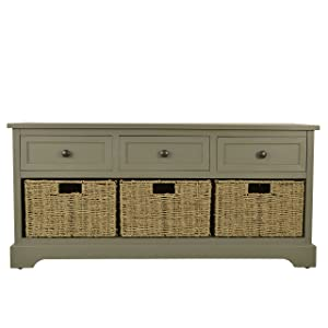 Décor Therapy Bench, Antique Gray