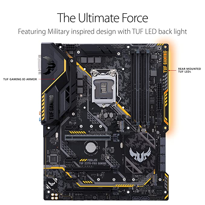 Asus TUF Z370 ATX Pro 4000 DDR4 Gaming Motherboard, Tarjeta ...