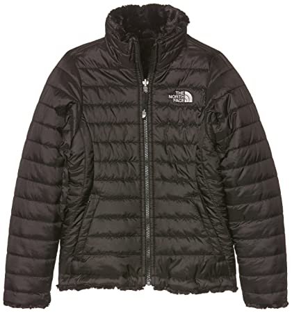 The North Face Girls Reversible Mossbud Swirl Jacket - TNF Black - L