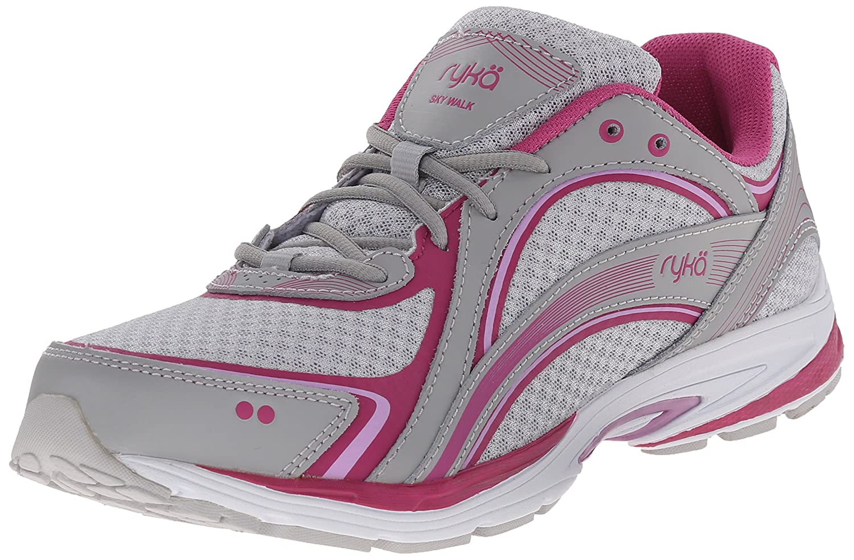 Ryka Women's Sky Walking Shoe B01287NPX6 9.5 W US|Cool Mist Grey/Orchid Bouquet