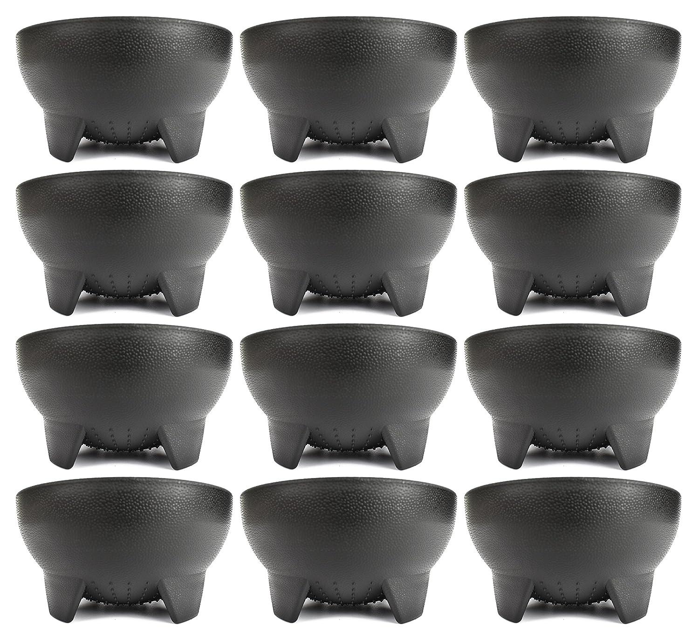 Set of 6 Black Salsa Bowls! 4.5