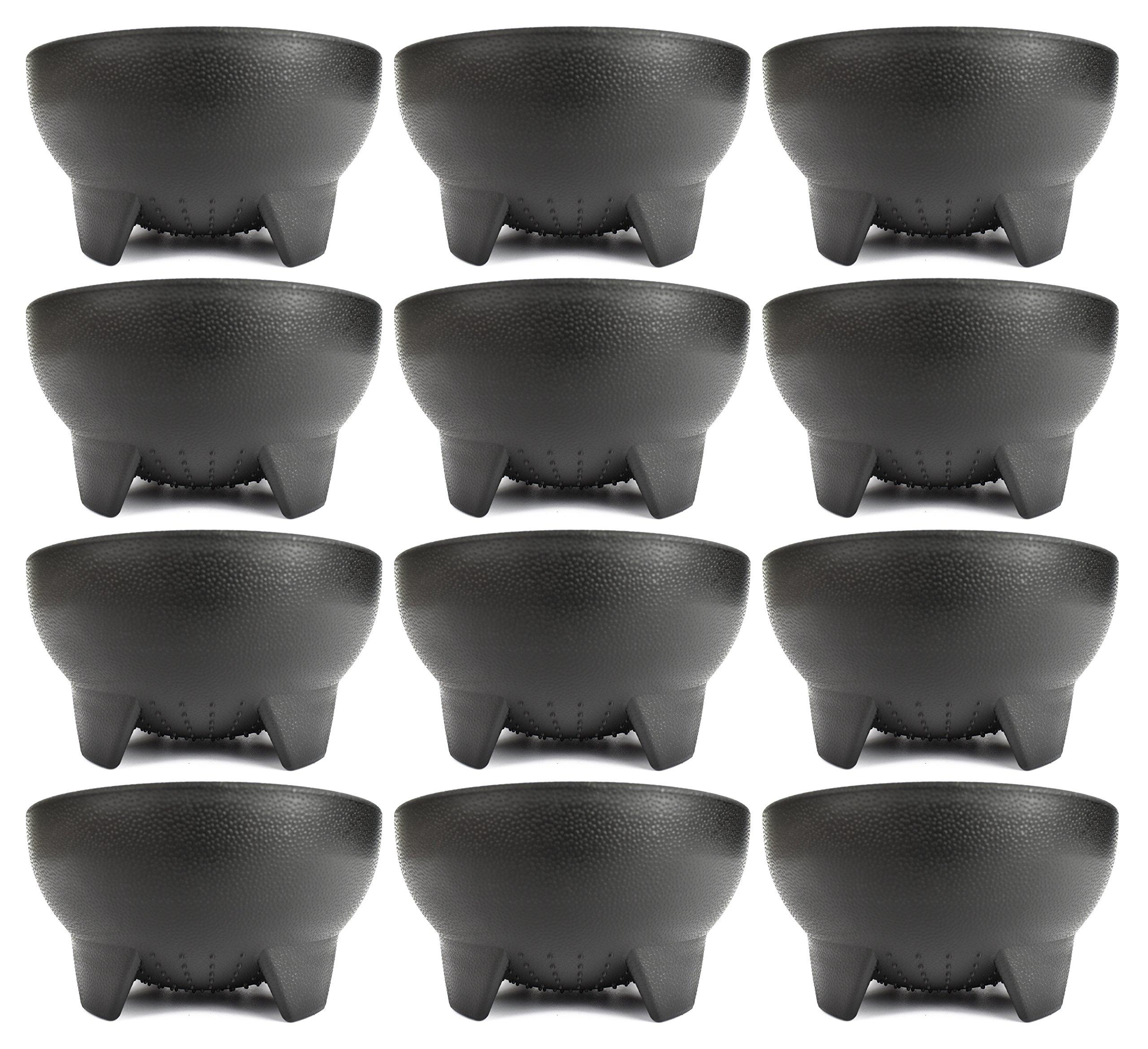 Set of 12 Black Black Duck Brand 4.5'' Diameter Salsa Bowls!