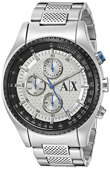 8948a3a11c3f Armani Exchange para hombre ax1602 analógico de cuarzo reloj de plata