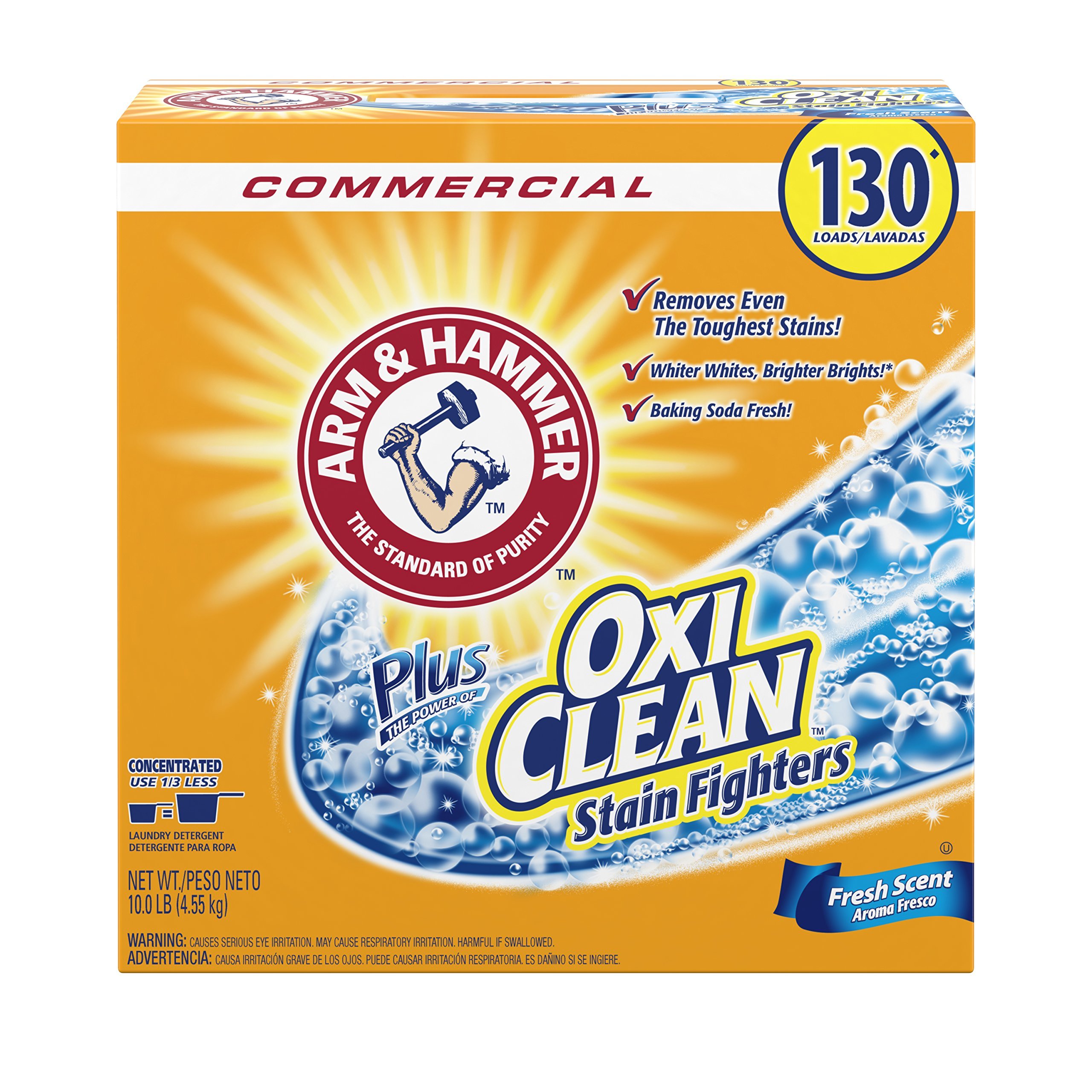 Arm & Hammer 33200-00108 Powder Laundry Detergent, OxiClean, Fresh Scent, 9.92 lb. (Pack of 3)