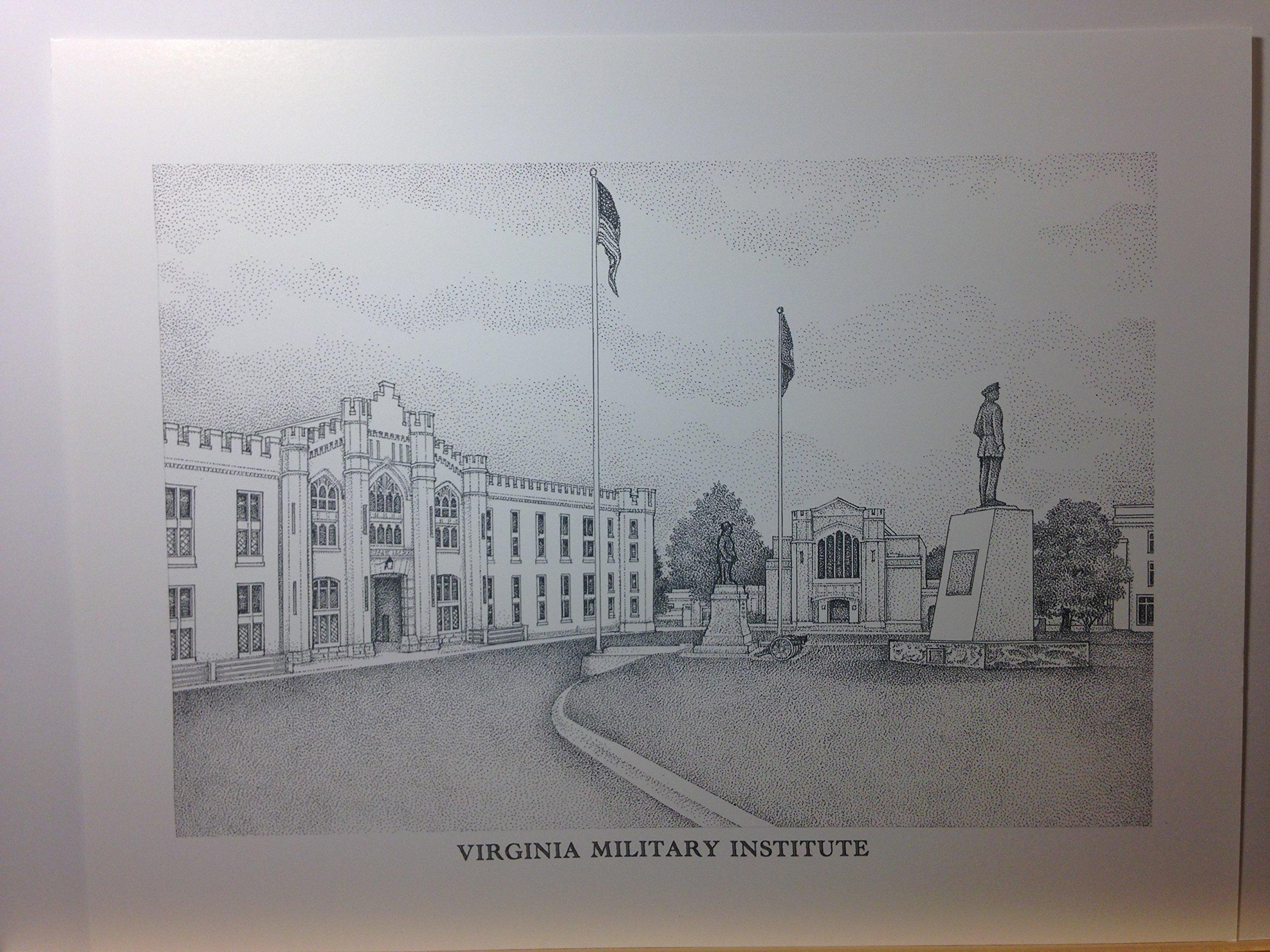 Virginia Military Institute pen and ink 11''x14'' print