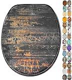 Abattant WC frein de chute soft close - Grande sélection de abattants wc en bois - Finition de haute qualité (Vintage)