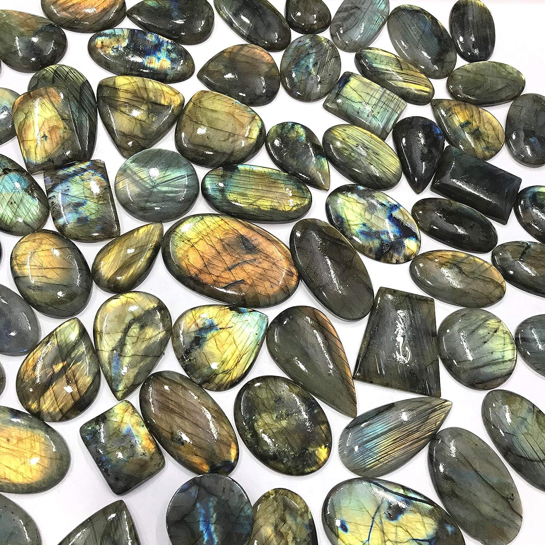 Natural Labradorite Cabochon Healing  Stone Top Quality Big Size 65 Carat 35x35x6 mm At Wholesale Price