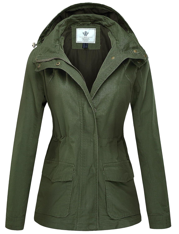 WenVen Women's Versatile Anorak Militray Hooded Jacket Drawstring