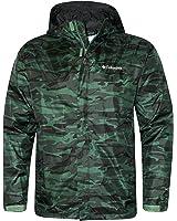 Columbia Men's Timber Pointe Printed Camo GREEN Omni Tech Rain Hooded Waterproof Jacket