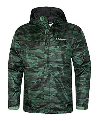 6646e80be4 Columbia Men s Timber Pointe Printed Camo GREEN Omni Tech Rain Hooded Waterproof  Jacket ...