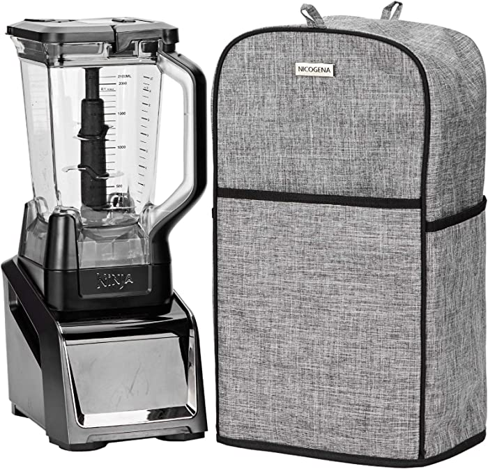 NICOGENA Blender Dust Cover with Accessory Pocket Compatible with Ninja Foodi, Grey