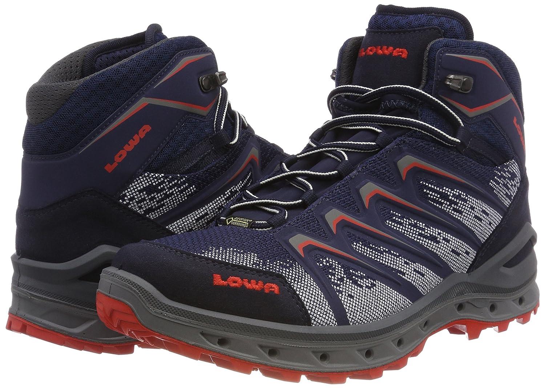 Lowa Herren Aerox GTX Mid Trekking-& Trekking-& Trekking-& Wanderstiefel, blau/rot, 44 EU B0711LVTCD 3feba1