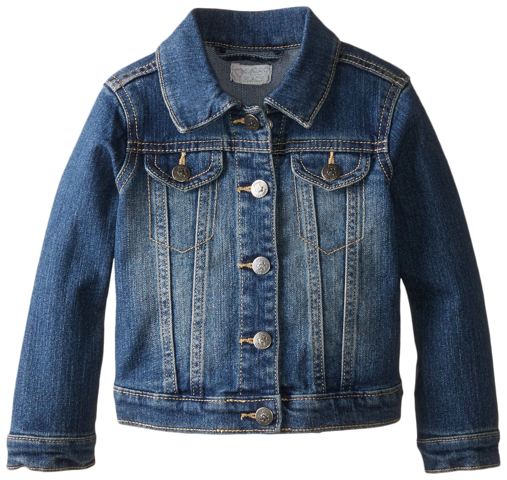 The Children's Place Little Girls and Toddler Light Denim Jacket, China Blue, 3T