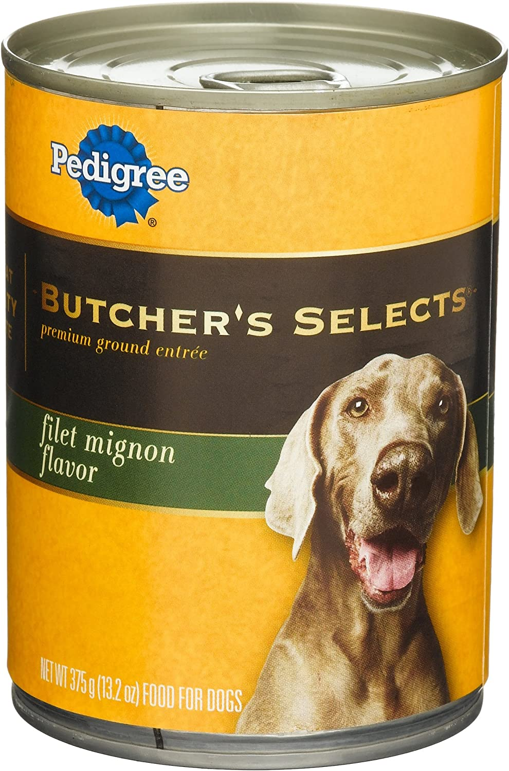 Pedigree Butcher'S Selects Premium Ground Entree Filet Mignon Flavor Food For Dogs, 13.2-Ounce Cans (Pack Of 24)