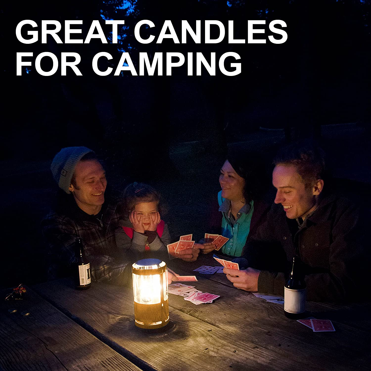 UCO Candle Lantern 3.5-Inch Candles, 3-Pack, 12-Hour Beeswax: Sports & Outdoors