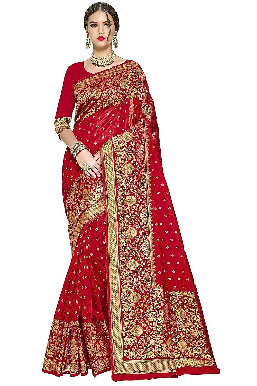 Red Color Kanchipuram Art Silk Saree With Blouse Piece
