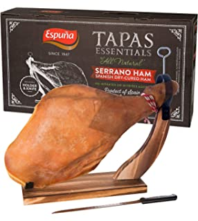 Serrano Ham (shoulder) Bone in from Spain 10 - 12 lb / FREE ...
