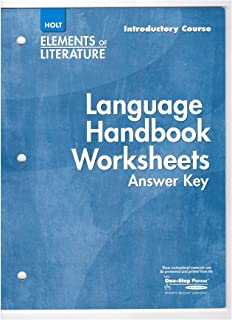 Printables Language Handbook Worksheets Answer Key Online holt elements of literature language handbook worksheets answer key introductory course
