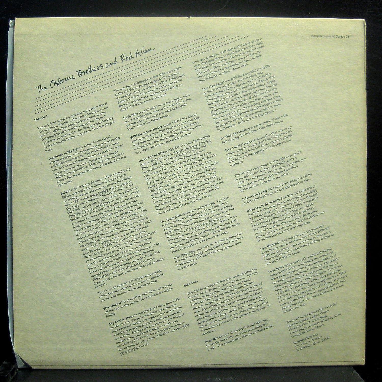 Amazon.com: THE OSBORNE BROTHERS AND RED ALLEN vinyl record ...