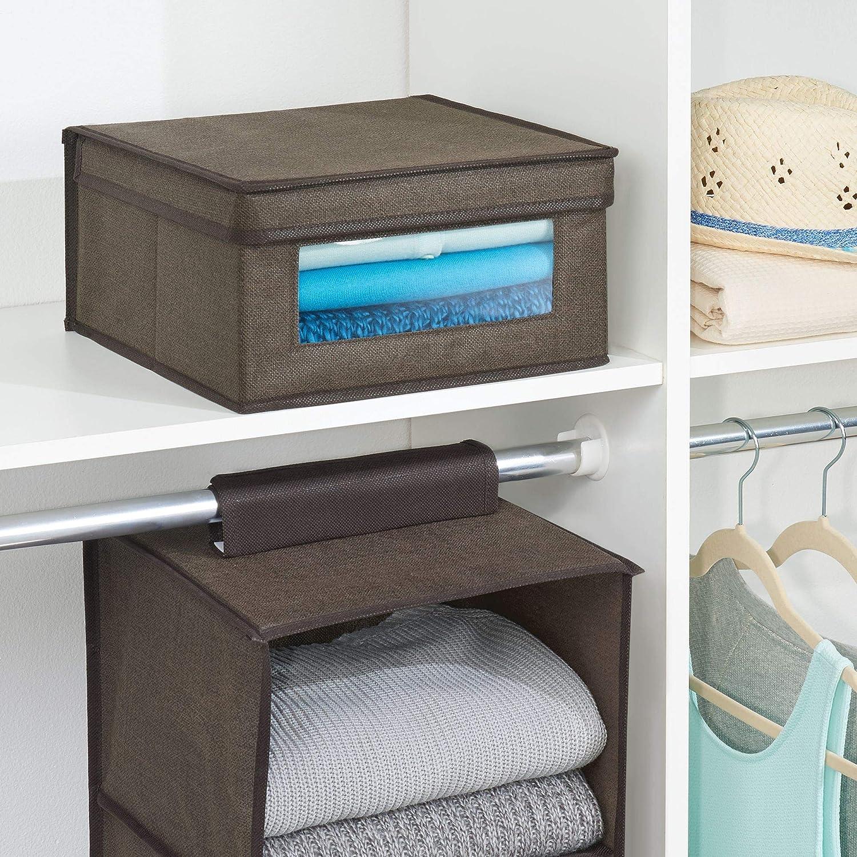 Mdesign Stapelbare Stoffbox Mit Deckel Für Kleidung Bettwäsche